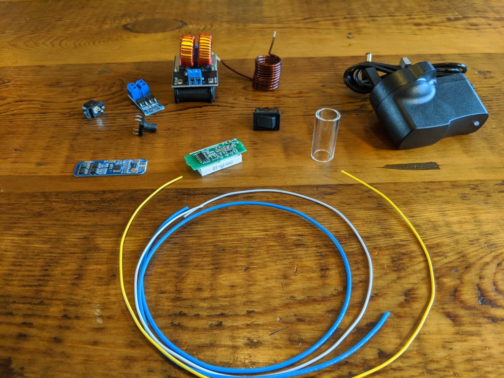 Parts List for DIY Induction Heater (battery powered)