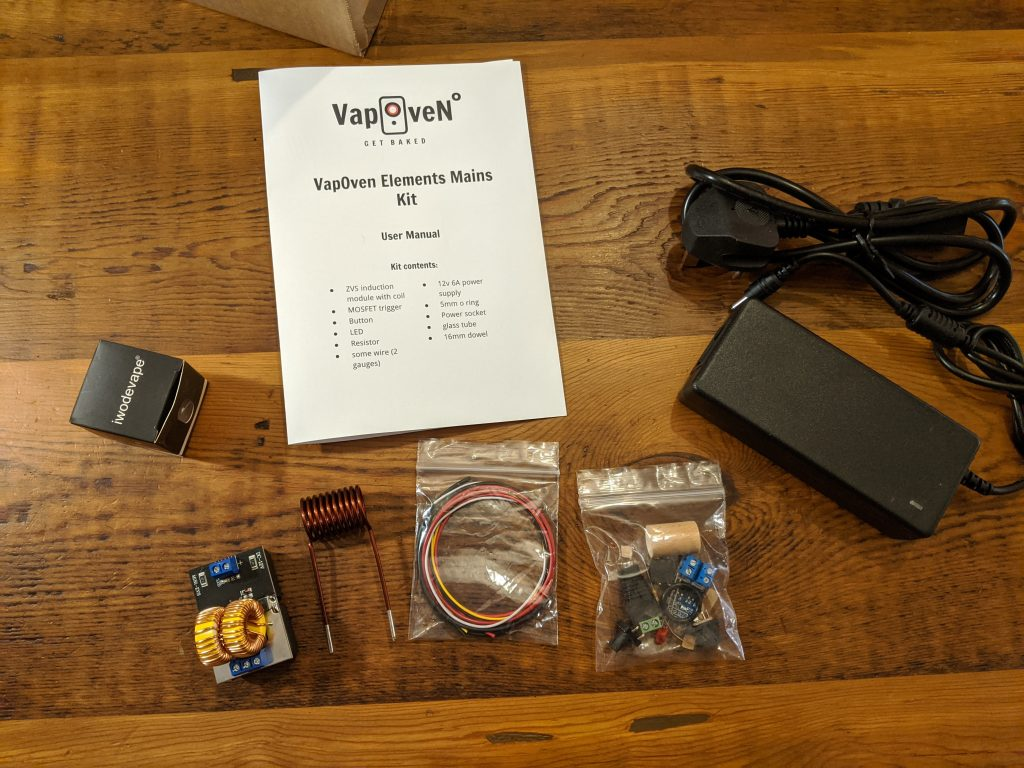 Parts List for DIY Induction Heater (mains powered)