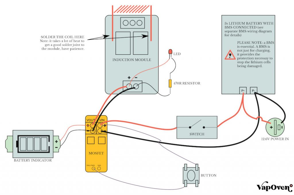 Battery Powered Induction Heater Wiring Diagram