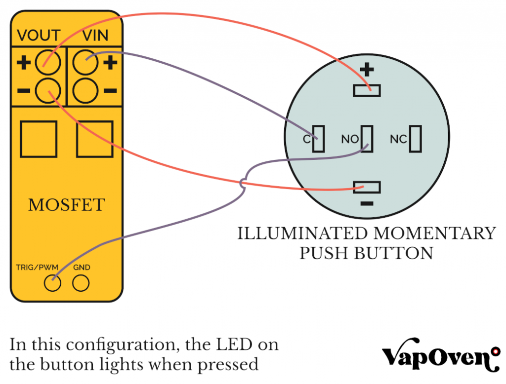 Wiring an Illuminated 5 pin Momentary Push Button