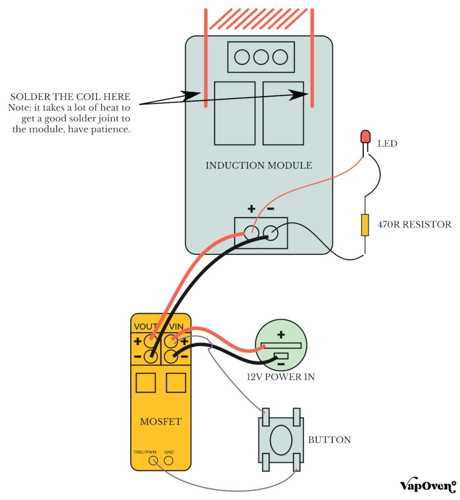 Mains Powered Induction Heater Wiring Diagram