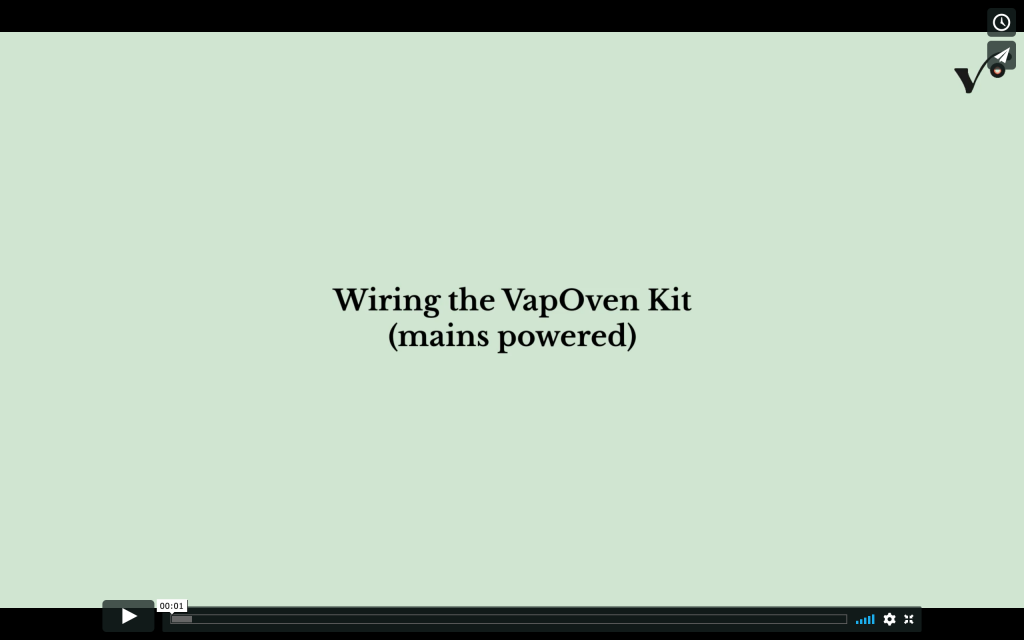 VIDEO: Wiring the VapOven Kit (mains powered)